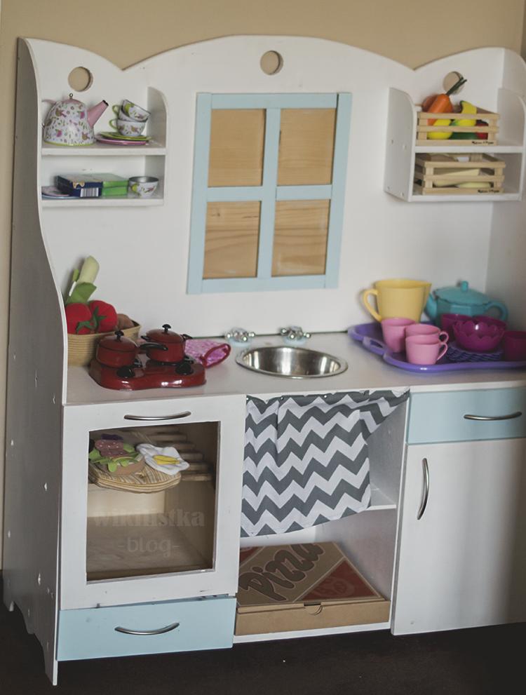 Drewniana kuchnia dla dzieci DIY  Zrób to sam! wikilistka pl -> Kuchnia Dla Dzieci Ikea Opinie