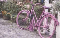 różowy rower, fotografia dziecięca, blog parentingowy