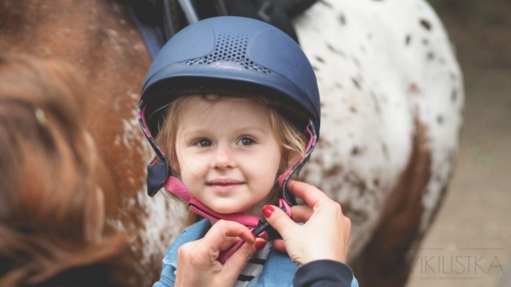kask jeździecki dla dziecka