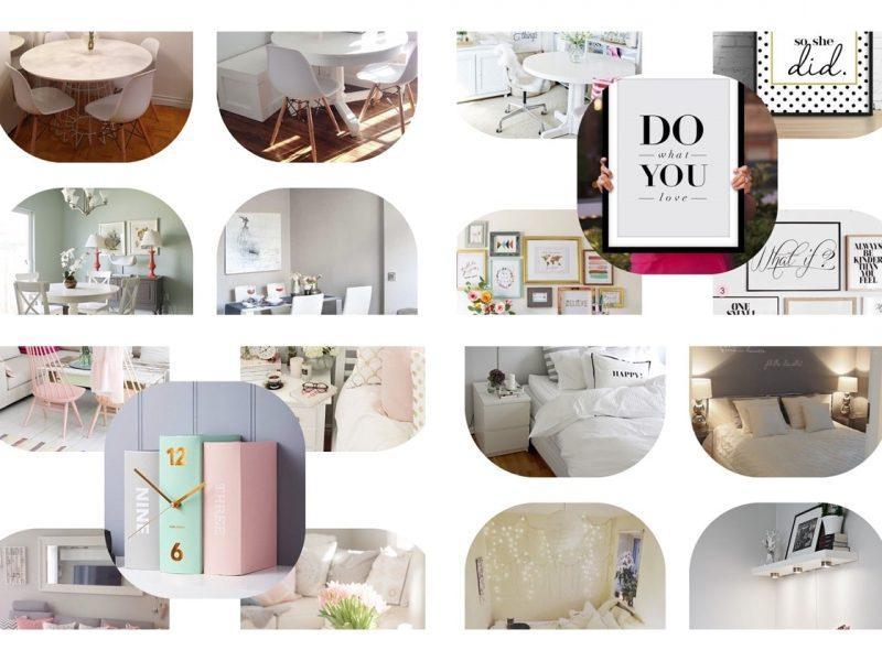Jak urządzić małe mieszkanie - inspiracje - kolaż