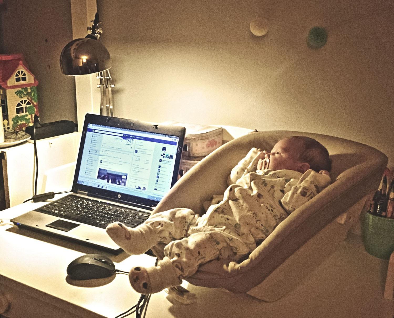 projekt 365, Facebook, laptop, lampka, myszka