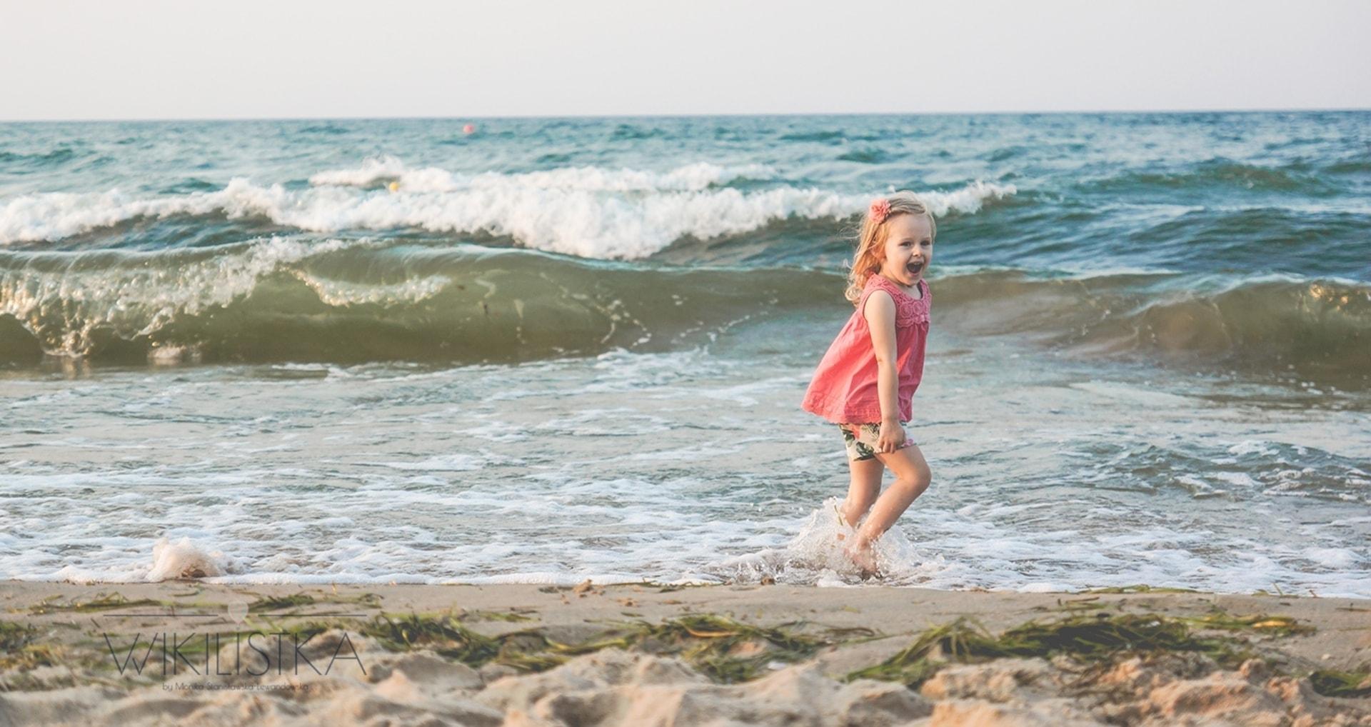Fala, dziecko, plaża, Jelitkowo, Trójmiasto, sesja fotograficzna, sesja dziecięca