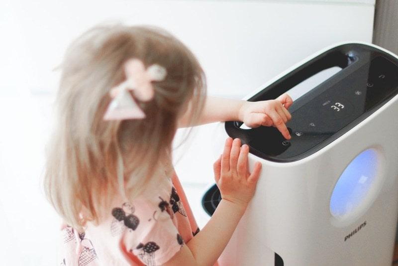 Oczyszczacz powietrza Philips jest bezpieczny dla dzieci