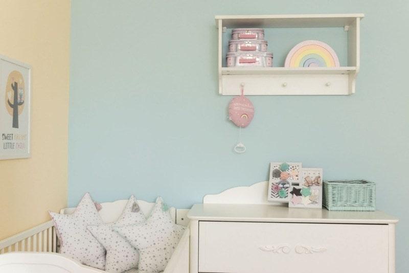 Pokój dla dziewczynki, pastelowy, pokój dla rodzeństwa, tęczowy