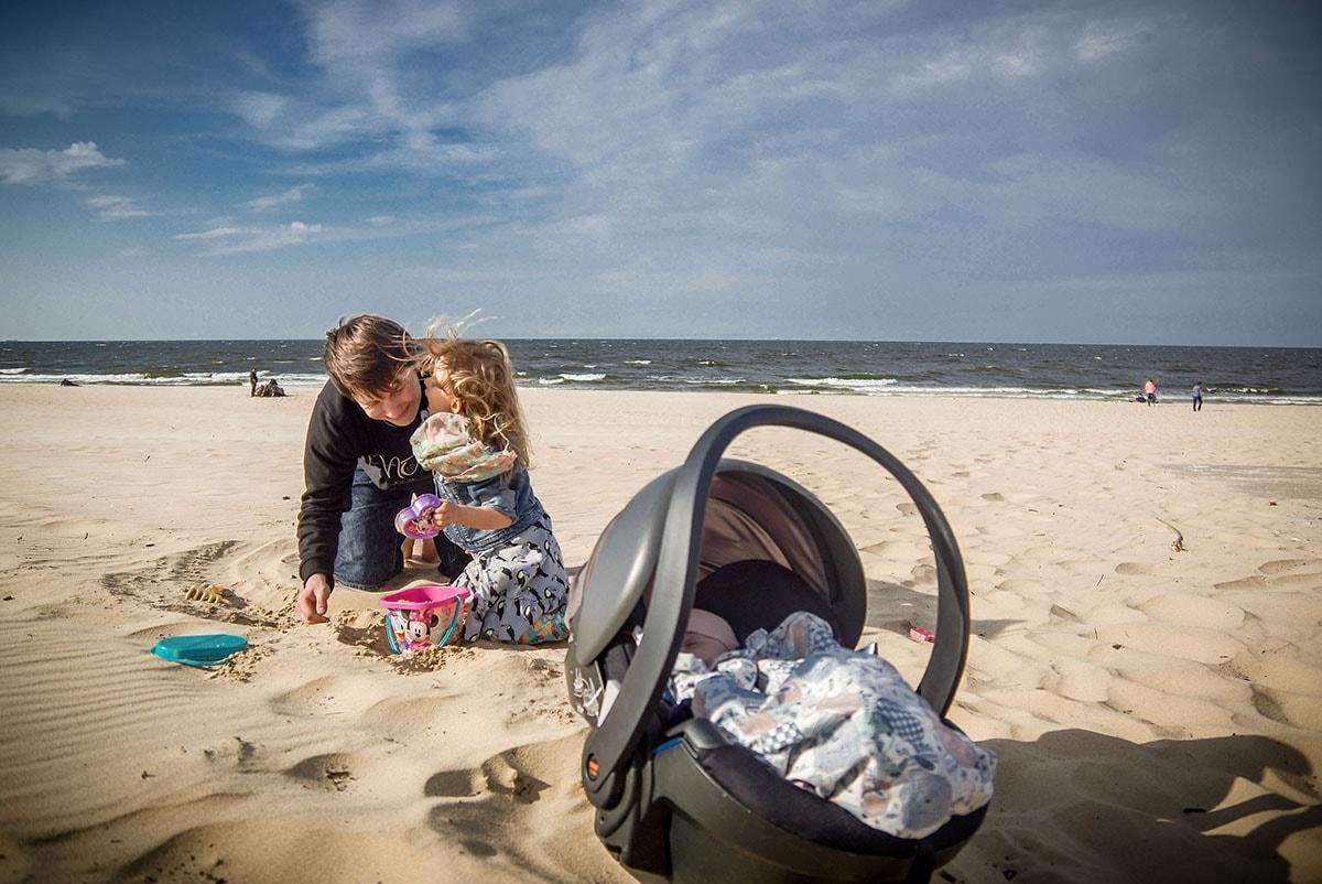 fotografia lifestylowa Trójmiasto, plaża, dzieci