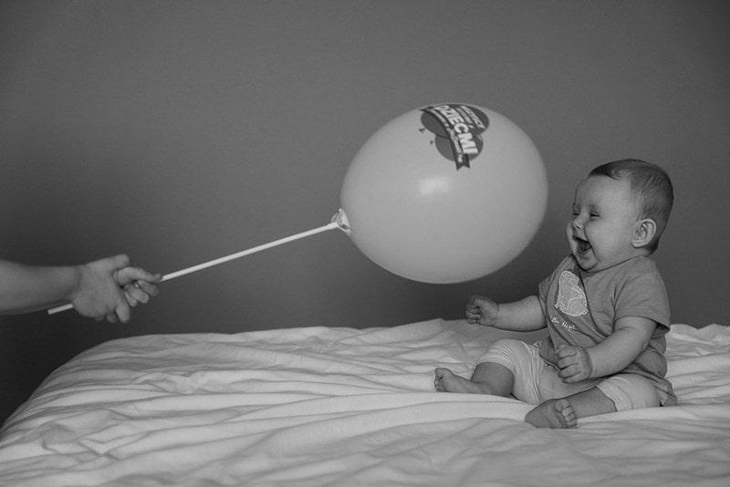 Balon, dziecko, fotografia rodzinna Trójmiasto