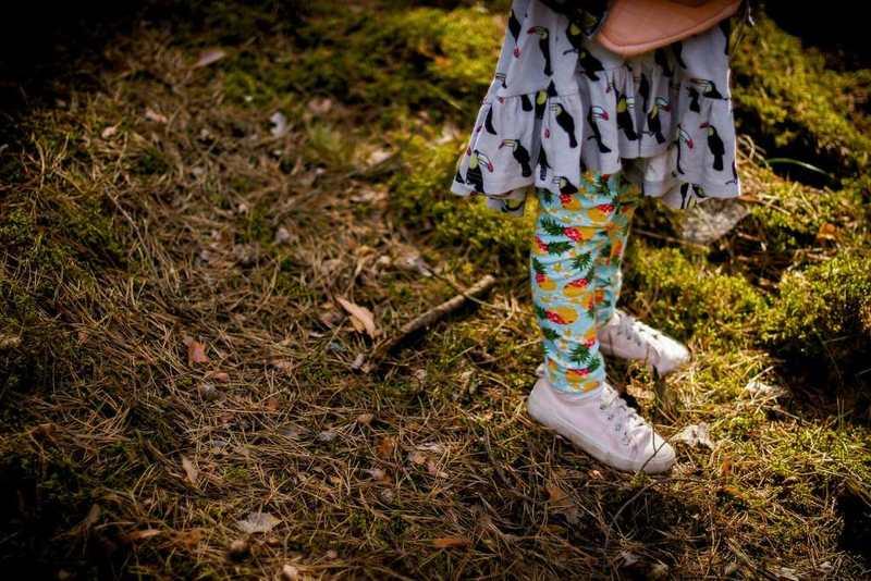 Sukienka w tukany, sukienka w ptaki, sukienka dla dziewczynki, las