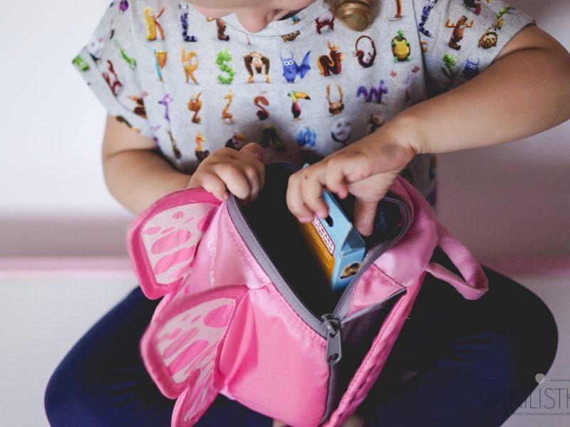 Zabawki na wyjazd, plecaczek, plecak ze skrzydełkami, motylek
