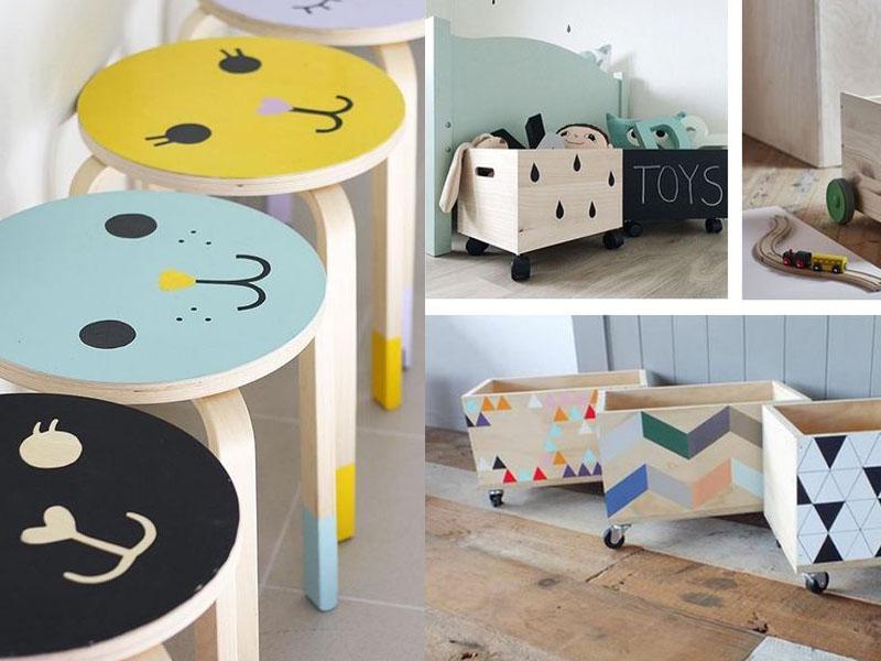 skrzynia na zabawki DIY, dekoracje do pokoju dziecięcego, pokój dziecięcy DIY zrób to sam