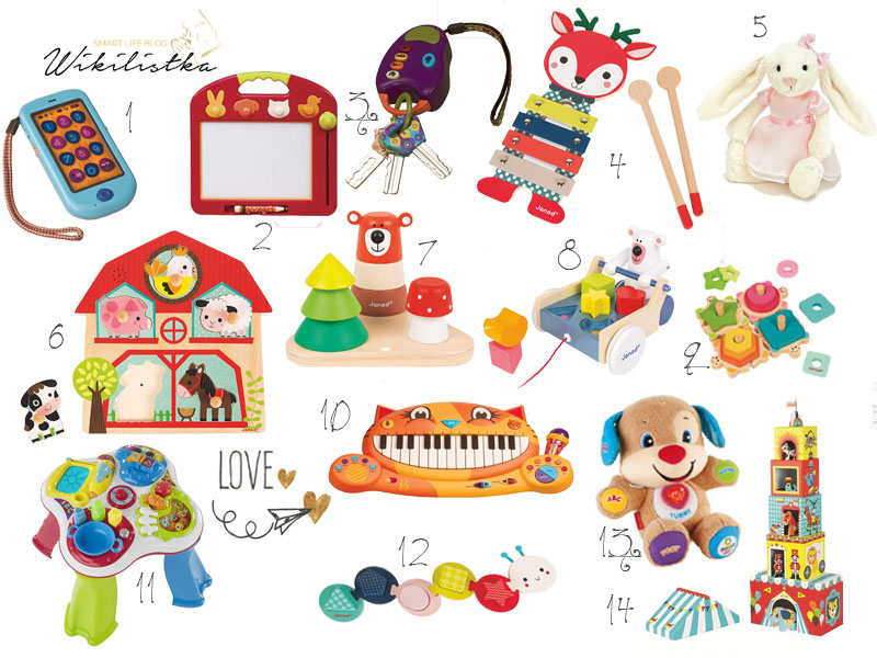 prezent na roczek, zabawki dla roczniaka, zabawki na roczek, janod, btoys, piramidki, chicco, stoliczek edukacyjny, szczeniaczek uczniaczek