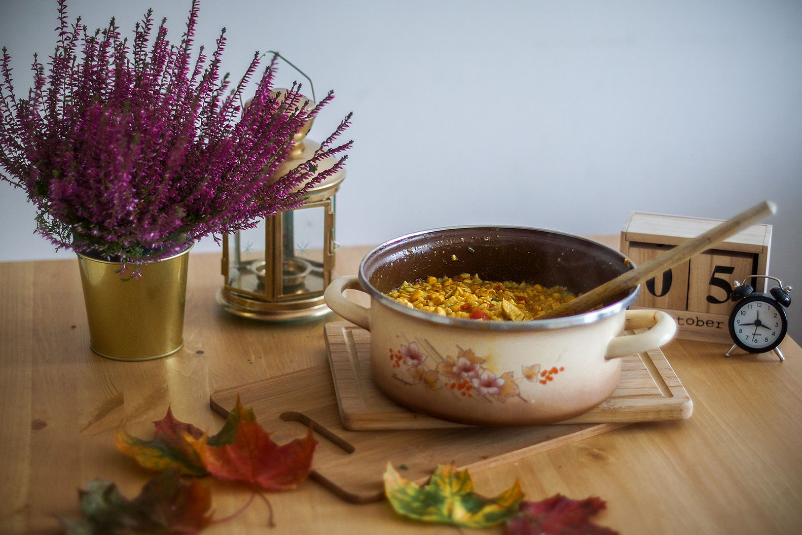jesienne risotto z warzywami kurczakiem i parmezanek