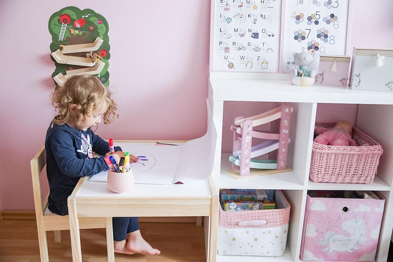 jak urządzić pokój dziecka 3latka, przedszkolaka? Ikea latt, kallax