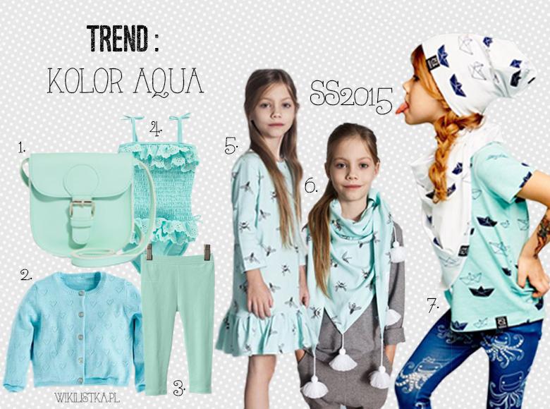 trendy wiosna lato 2015,aqua, trendy wiosna lato, trendy SS2015, SS2015, garderoba dziewczynki, szafa dziewczynki, przegląd, wikilistka, blog parentingowy, moda dziecięca, zara, next, gap