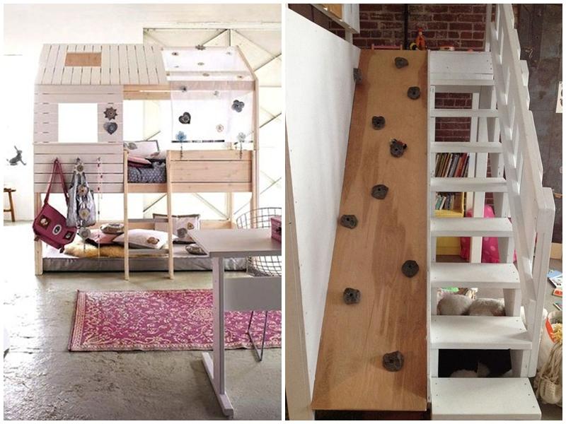 łóżko-na-antresoli-bunk-bed-pokój-dla-dziewczynki
