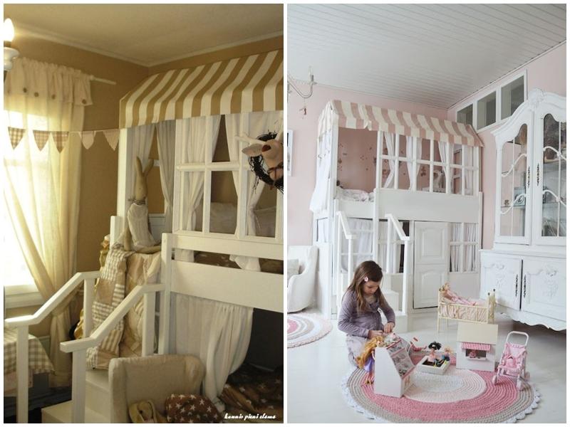 łóżko-na-antresoli-domek-pokój-dla-dziewczynki