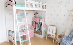 Antresola, pokój dla dziecka z antresolą, kącik dziewczynki