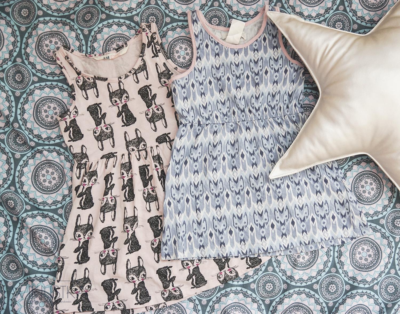 sukienki dla dziewczynki h&m, moda dziecięca