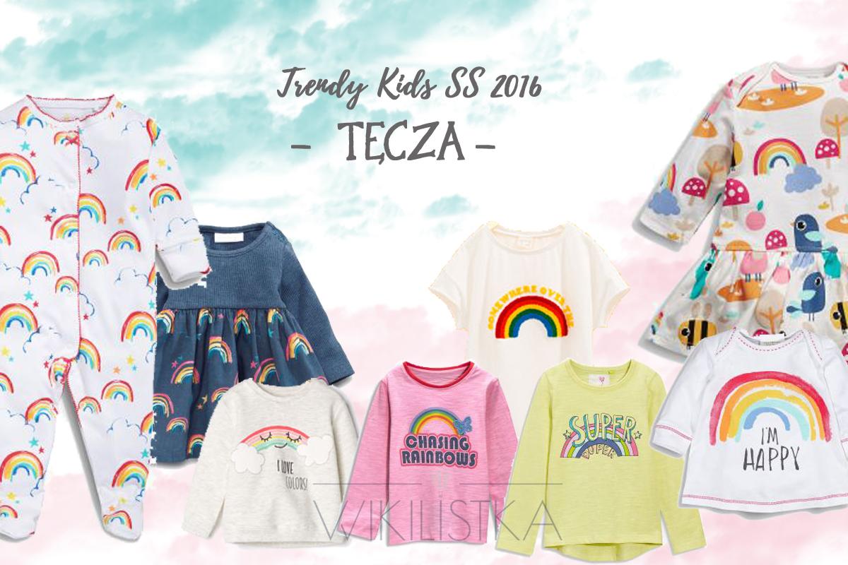 trendy wiosna lato, tęcza, moda dziecięca, moda dla dzieci