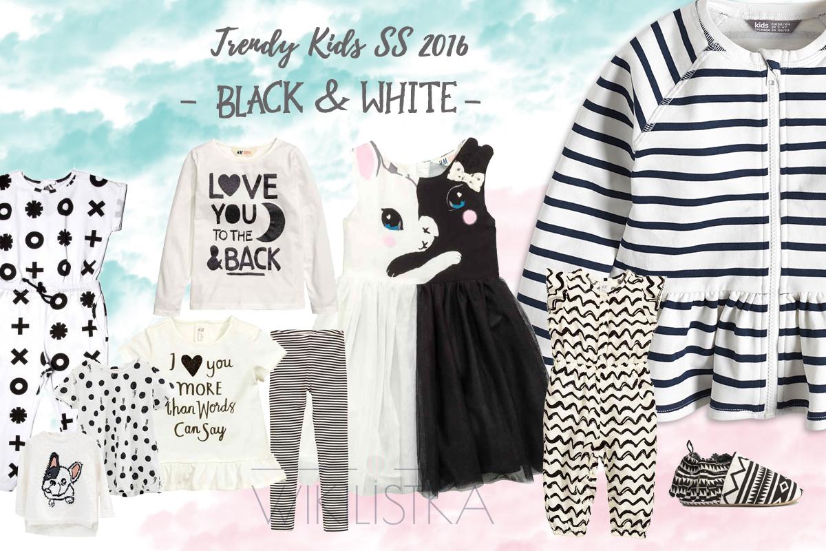 trendy wiosna lato, black white, moda dziecięca, moda dla dzieci