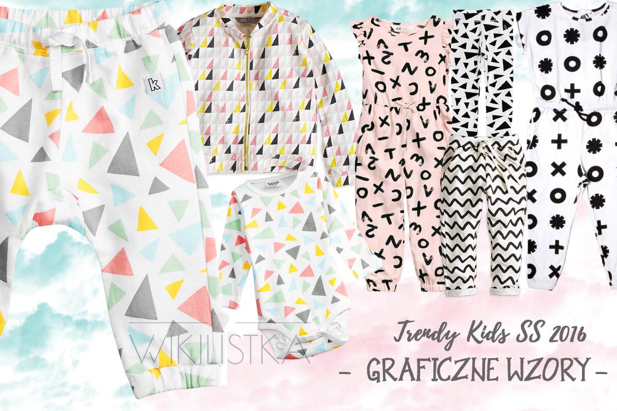 trendy wiosna lato, graficzne wzory, moda dziecięca, moda dla dzieci
