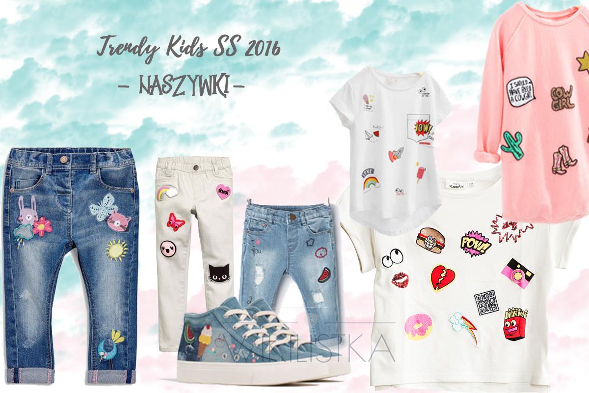 trendy wiosna lato, naszywki, moda dziecięca, moda dla dzieci