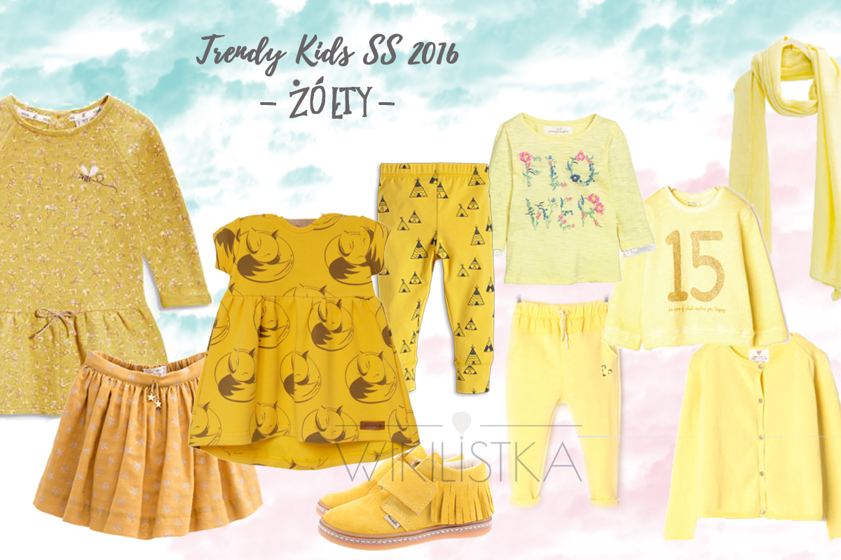 trendy wiosna lato, żółty, moda dziecięca, moda dla dzieci