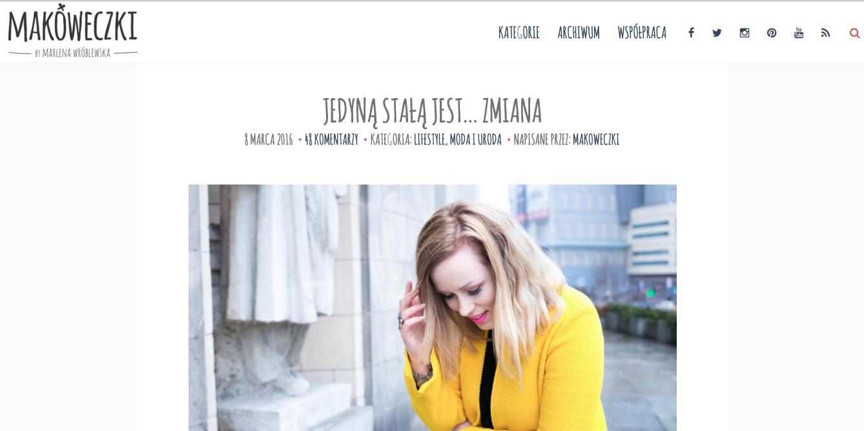 share week, marlena wróblewska, makóweczki, share week 2016, prowadzenie bloga