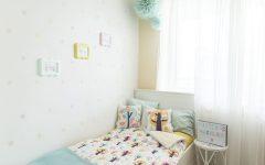 Pokój dla dziewczynki, pastele, tęcza, pokój dla rodzeństwa
