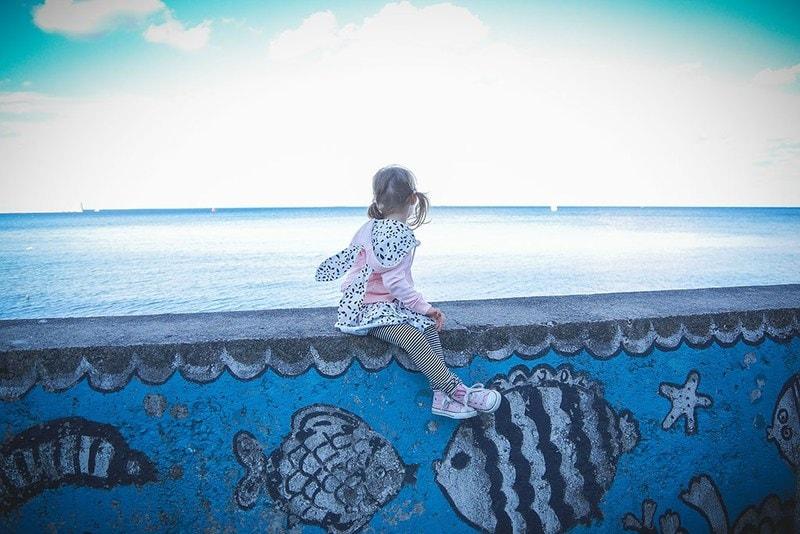 Projekt 365 morze a dziecko