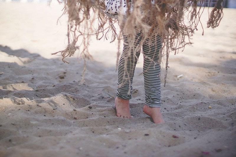 Projekt 365 plaża dwójka dzieci