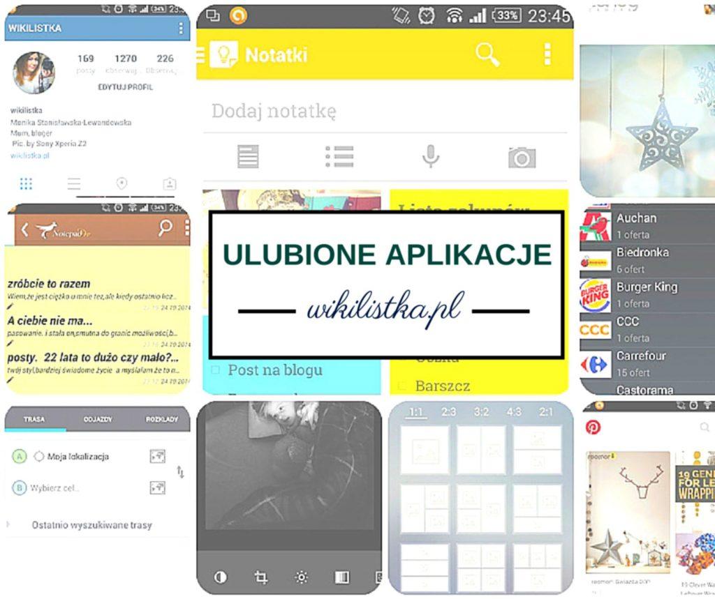 Ulubione aplikacje Wikilistki