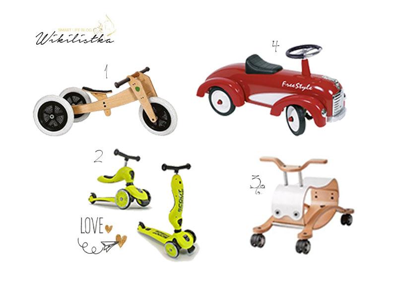 prezent na roczek, pierwsze urodziny, biegówka, rowerek biegowy, jeździk, autko, flip, wishbonebike, hulajnoga 2w1