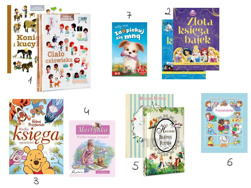 książki dla dzieci, dla przedszkola, pierwsza encyklopedia, złota księga bajek, zaopiekuj się mną, wielka księga opowieści,