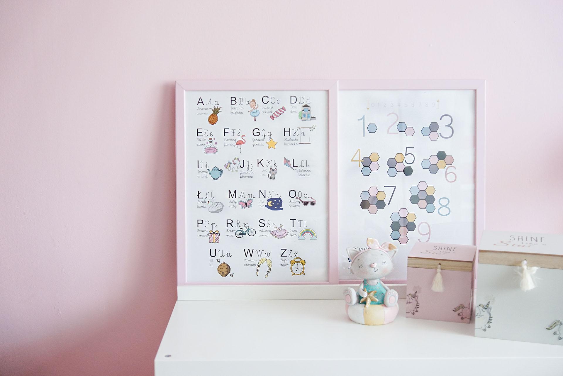 pokój dziecka, plakat alfabet, polski alfabet, plakat edukacyjny, plakat dla dziecka, plakaty dla dzieci