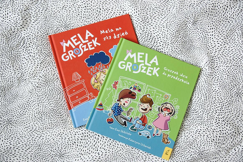 Mela Groszek książki dla 3 i 4 latka, Dusia i Psinek-Świnek książki dla 3 i 4 latka, książeczki o przedszkolu, adaptacja w przedszkolu, udana adaptacja przedszkolna, moda dziecięca blog