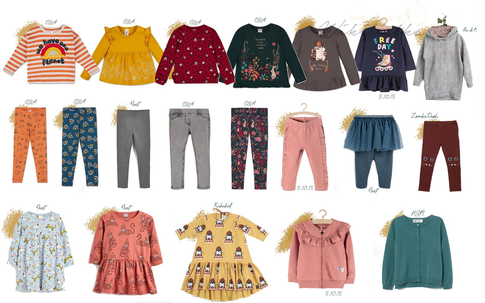 kapsułkowa szafla dla dzieci ubrania dla dziewczynki