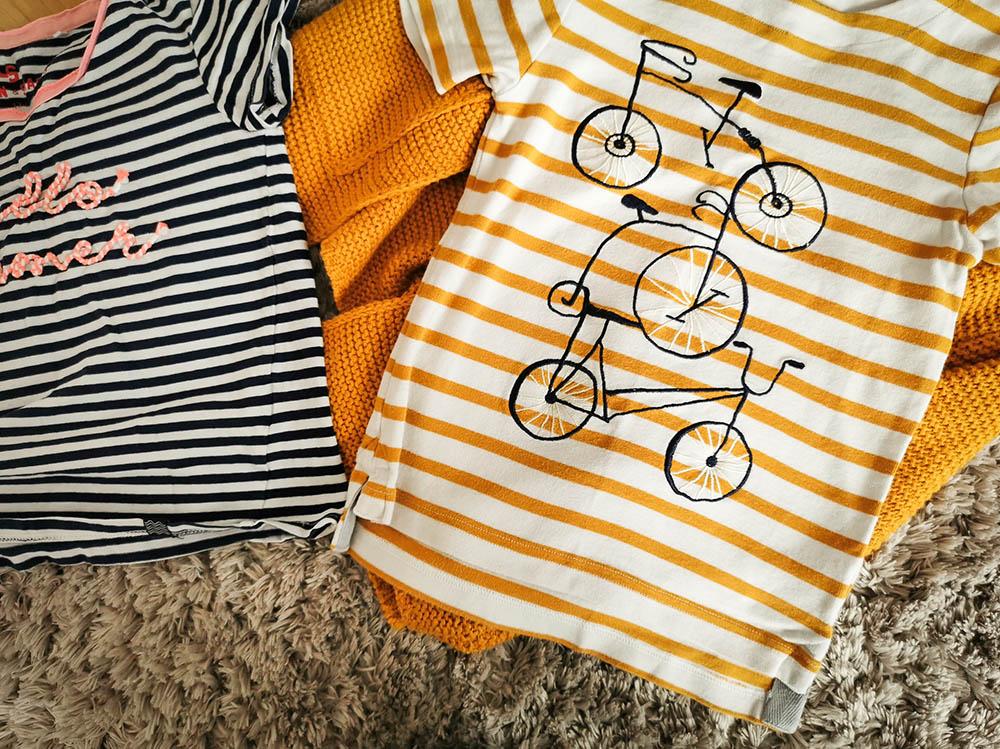 ubrania dobrej jakości dla dzieci, koszulki w paski