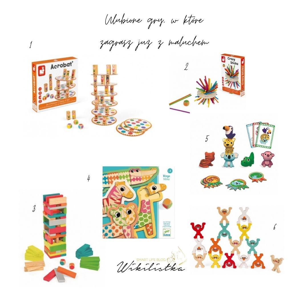 najfajniejsze gry planszowe dla małych dzieci maluchów